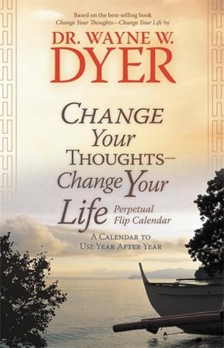 Bild på Change your thoughts - change your life perpetual flip calendar - a calenda