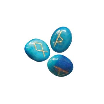 Bild på Kristallrunor: blå onyx