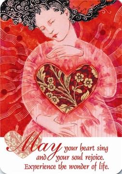 Bild på May your heart sing cards magnet