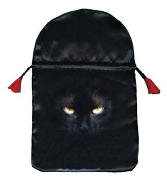 Bild på Tarotpåse: Black Cat (satäng)