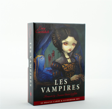 Bild på LES VAMPIRES ORACLE CARDS: Ancient Wisdom & Healing Messages Form the Children of the Night  (45 cards/guidebook)
