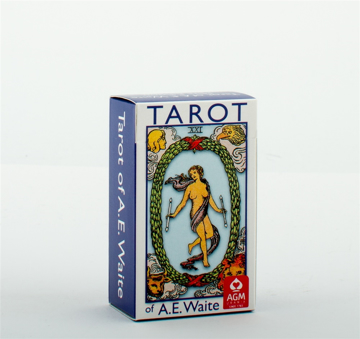 Bild på A.E. Waite Tarot Mini Blue Edition