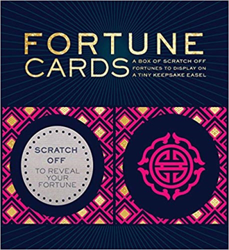 Bild på Fortune Cards: A Box of Scratch-Off Fortunes to Display on a Tiny Keepsake Easel