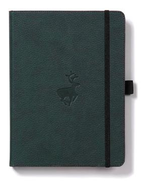 Bild på Dingbats* Wildlife A4+ Green Deer Notebook - Plain