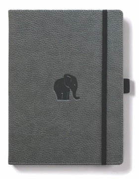 Bild på Dingbats* Wildlife A4+ Grey Elephant Notebook - Lined