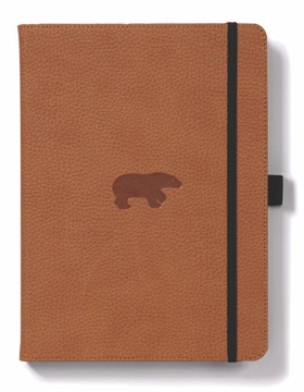 Bild på Dingbats* Wildlife A5+ Brown Bear Notebook - Dotted