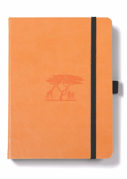 Bild på Dingbats* Earth A5+ Tangerine Serengeti Notebook - Dotted