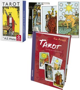 Bild på Tarotpaket: Tarot bok + Waite svensk tarot (pocketstorlek)