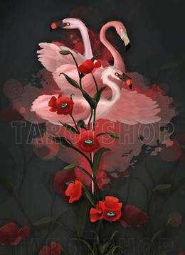 Bild på Magic Flamingos and Poppies